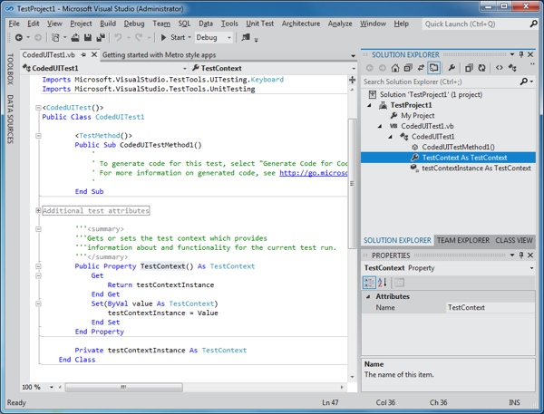 Visual Studio 11 Beta  IDE
