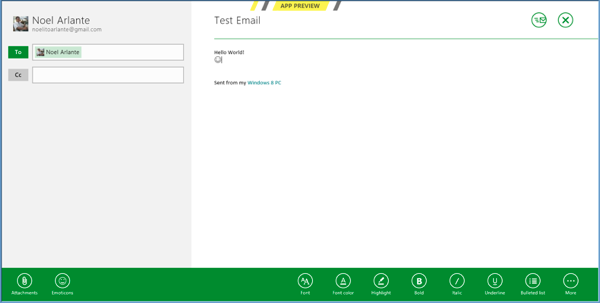 Windows 8 Email App RS