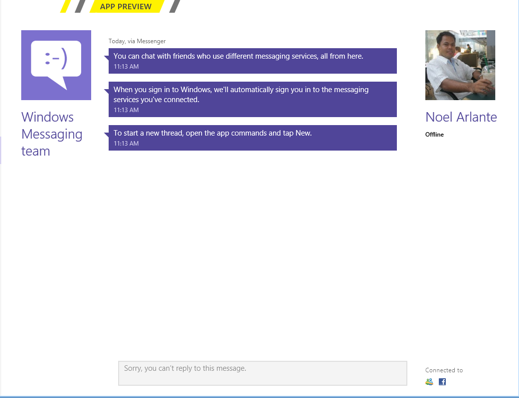 Windows 8 Messaging App RS