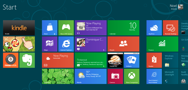 Windows 8 Tiles with Apps 2 RS
