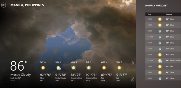 Windows 8 Weather App RS