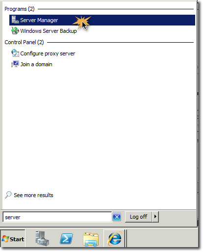 ServerManager win2008