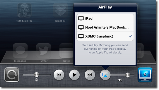 AirPlay iPad with Air Video Server