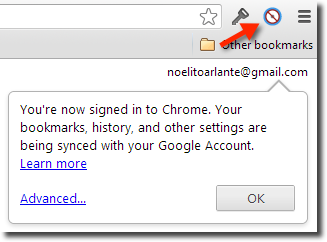 Signed in to Chrome