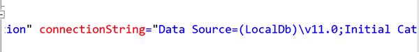 LocalDB Config