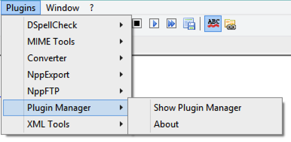 Notepad++ PluginsManager