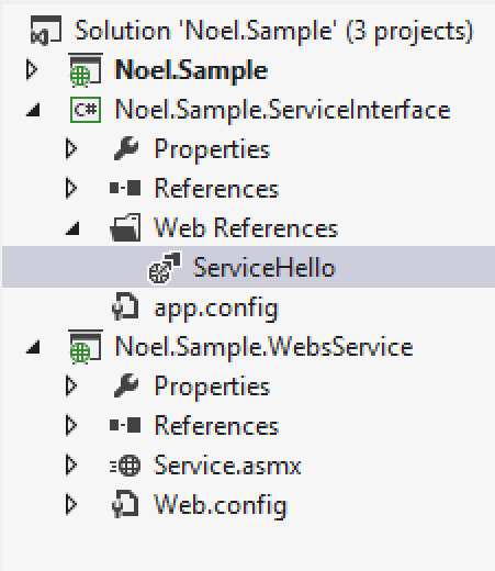Add Web Reference - ApplicationSettings