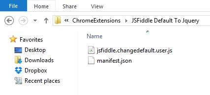 Extension Folder