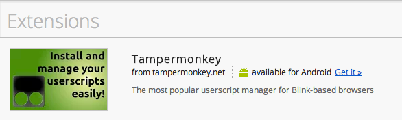 Tampermonkey userscript manager