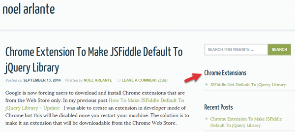 Chrome Extension Inline Installation Link From NoelArlante com