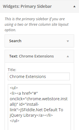 Chrome Extension Inline Installation  Setup Link From WordPress